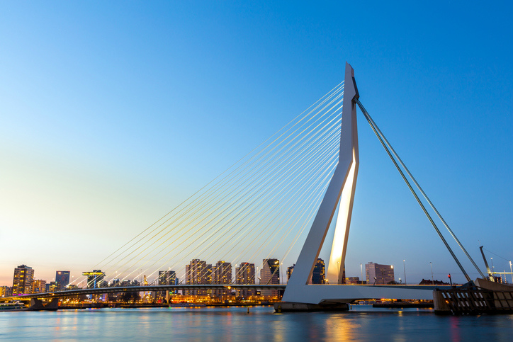 Erasmusbrug Bridge Rotterdam