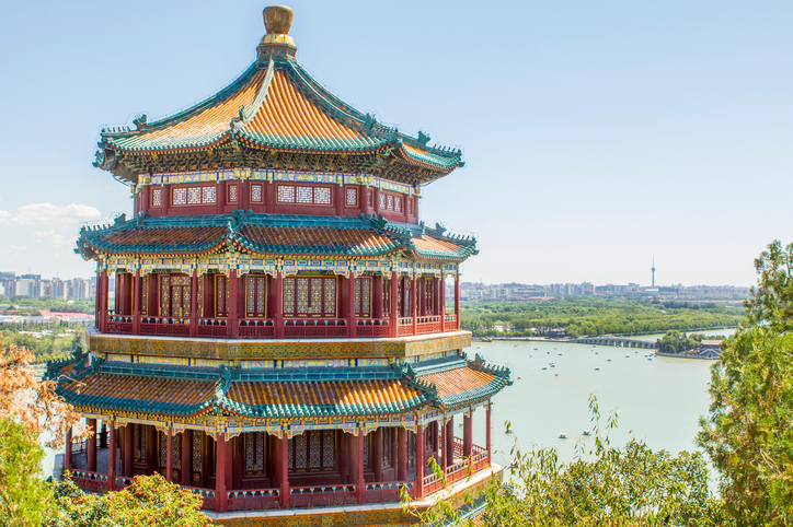 Summer Palace Pagoda Beijing China
