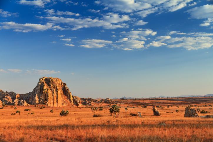 Isalo national park in Madagascar