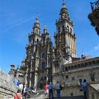 Gothic cathedral city of Santiago de Compostela