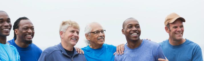 Group of men laughing