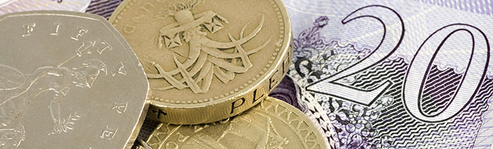UK currency, coins and notes
