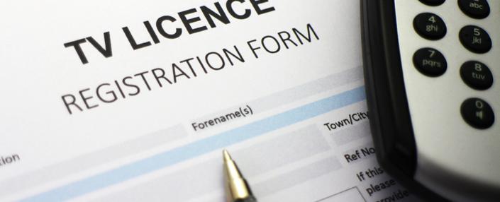 TV licence registration form
