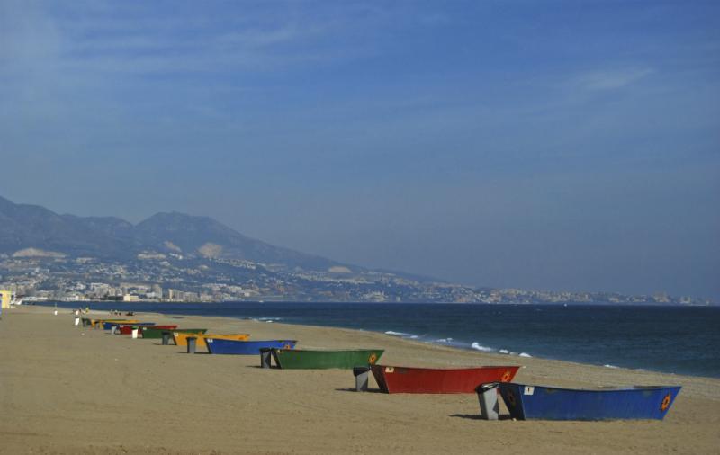 Boats on the beach in Barbacoa