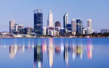 Perth Skyline at Night, Australia