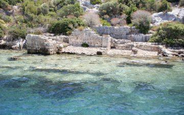 Ancient submerged city in Kekova, Antalya