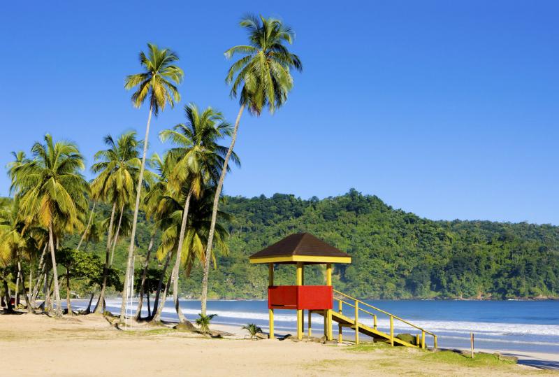 A hut on the beach of Maracas Bay in Trinidad