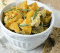 A delicious plate of Jamaican meat stew with pumpkin