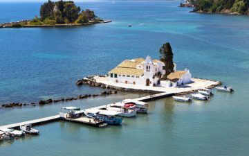 Monastery on small island off Corfu