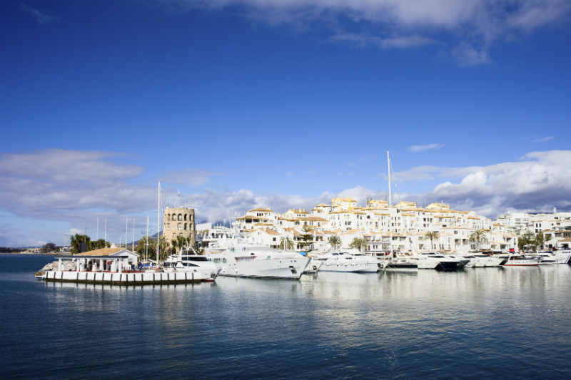 View of Puerto Banus from the Sea