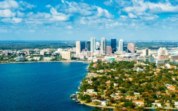 Tampa Skyline Aerial View