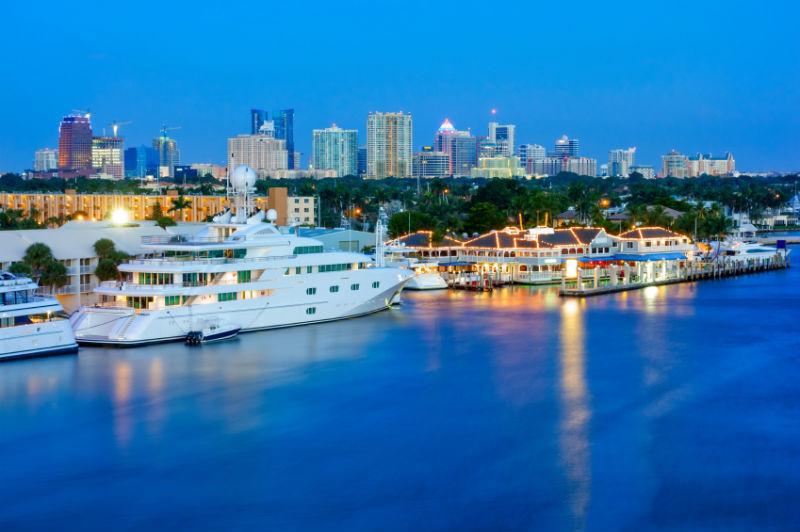 Fort Lauderdale at night, Florida