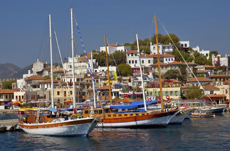 Marmaris Harbour in Turkey