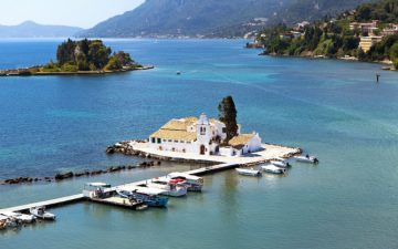 Small island off Corfu