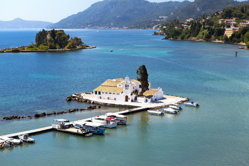 Small island off Corfu