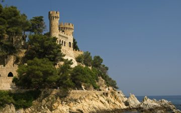 A landscape of Castle Lloret de Mar Spain