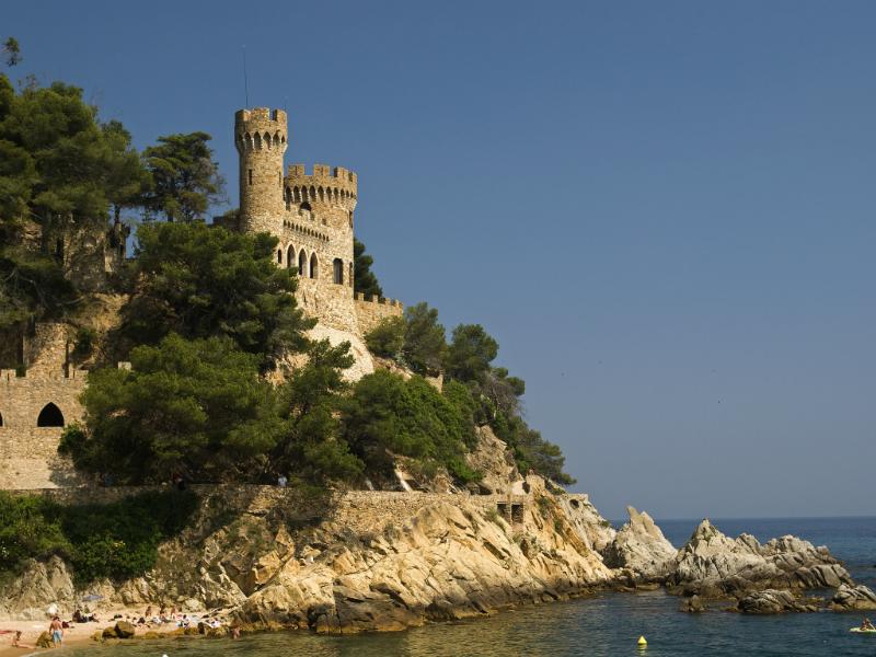 A landscape of Castle Lloret de Mar Spain