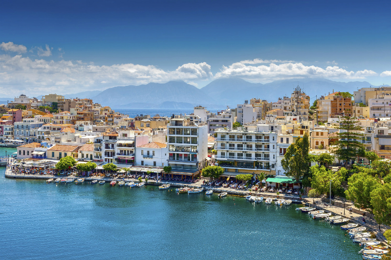 Harbour in Crete, Greece