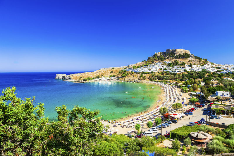 Beach in Rhodes