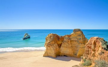 Praia da Rocha beach in Portugal