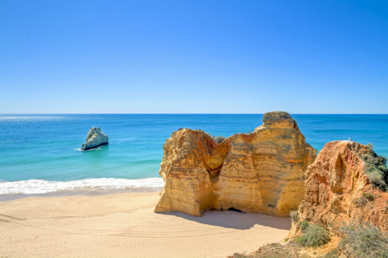 Praia da Rocha beach in Portugal