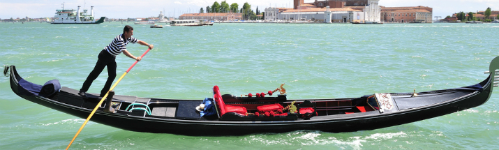 Gondola on the Grand Canal Venice