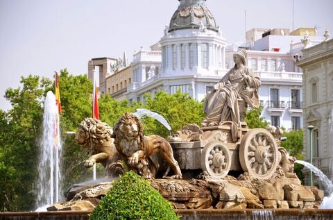 Fountain Plaza de Cibeles, Madrid