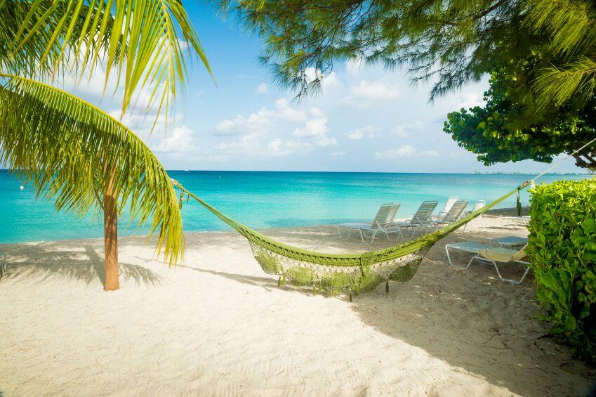 Green Hammock on Beach, Jamaica