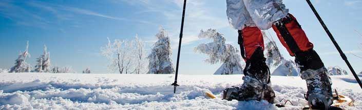 Man on ski slopes