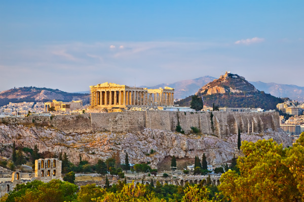 Athens skyline, Greece