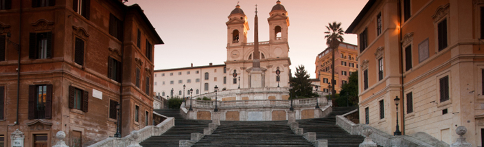 The Spanish Steps in Italy, Rome