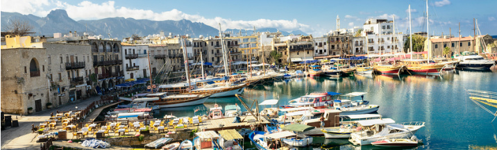 Old harbor in Kyrenia (Girne), Turkish Republic of Northern Cyprus