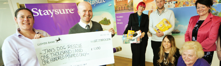 Staysure Charity Cheque Handover