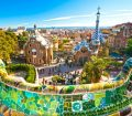 Gaudi's Park Guell in Barcelona, Spain