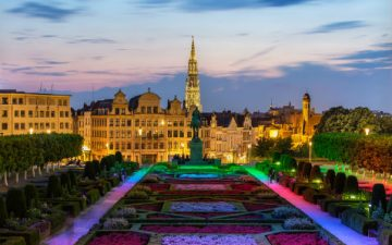 Flowers carpet at a festival in Brussels, Belgium