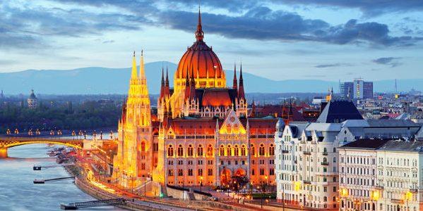 Budapest Hungary Night Landscape