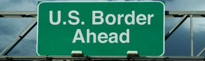 US border sign