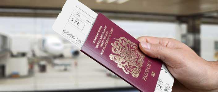 Passport at the airport