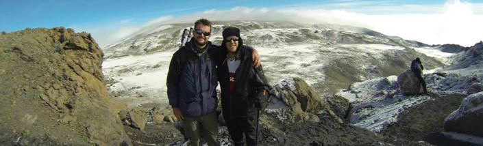 Panoramic view from the top of mt Kilimanjaro