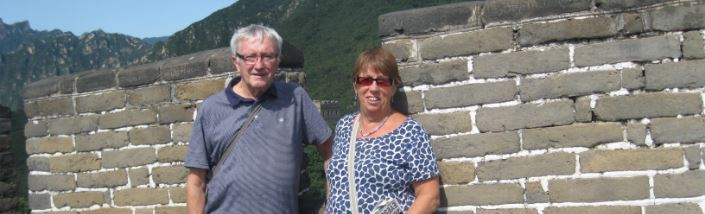 Ian and Sandra at the Great Wall of China