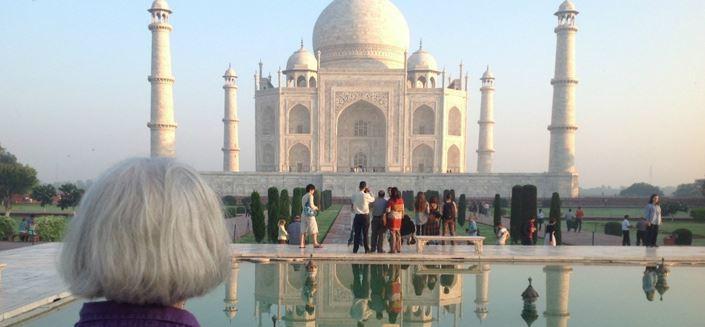Therese at the Taj Mahal, India