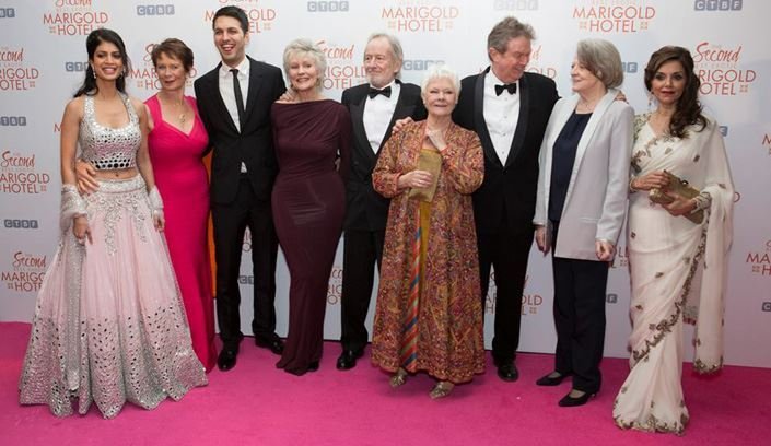 Staysure customers at royal film performance of The Second Best Exotic Marigold Hotel