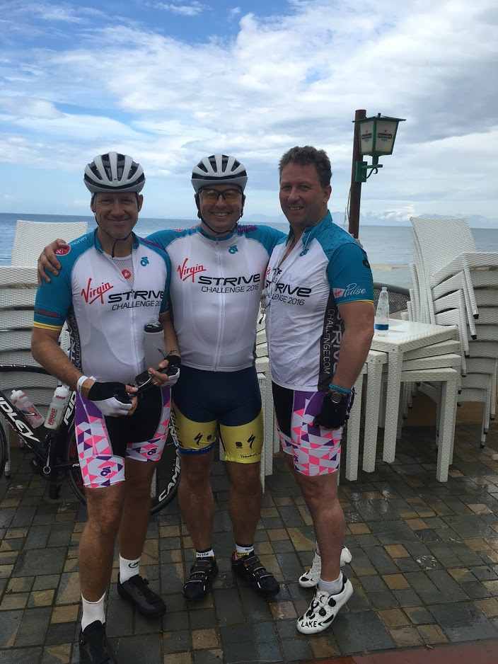 Team Staysure after the first day riding