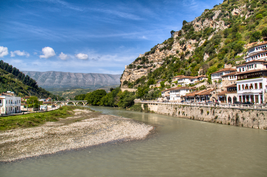 Berat by the river