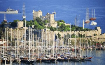Bodrum Castle and harbour Turkey