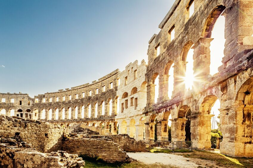 Amphitheatre at Pula, Croatia