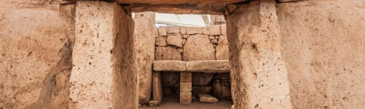 Mnajdra Temple within Hagar Qim megalithic complex, one of the most ancient religious sites on Earth in Malta