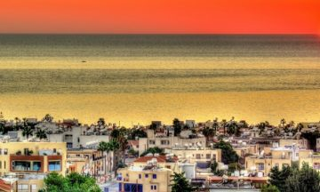 Sunset over Paphos