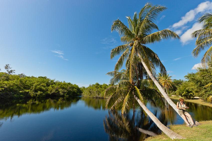 Lake at the Queen Elizabeth II Botanic Park, Grand Cayman