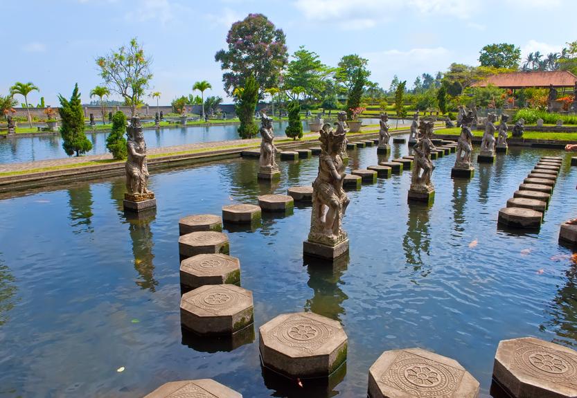 Bali, Indonesia, Imperial swimming baths (Taman Tirta Gangga)